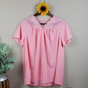 Vintage night gown top gypsy blouse